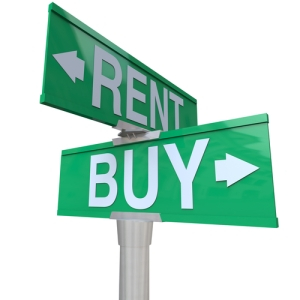rent or buy sign